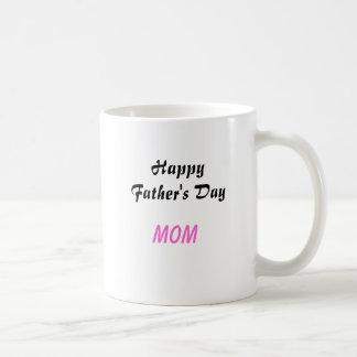 Taza de café feliz de la mamá del día de padre