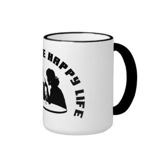Taza de café feliz de la vida de la esposa feliz