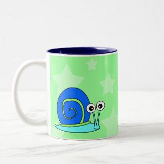 Taza de café feliz del caracol
