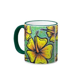 Taza de café feliz del hibisco