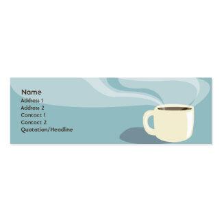 Taza de café - flaca tarjetas de visita mini