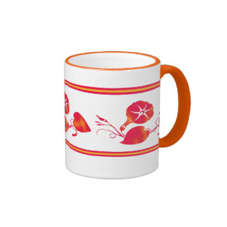 Taza de café floral