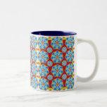 Taza de café floral del mosaico