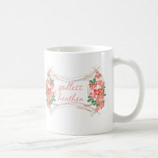 Taza de café floral pagana atea