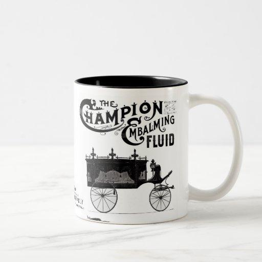 Taza de café flúida de embalsamiento