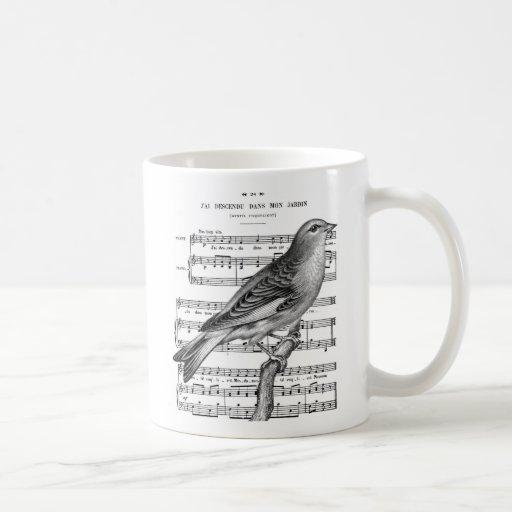 Taza de café francesa de la música de la canción d