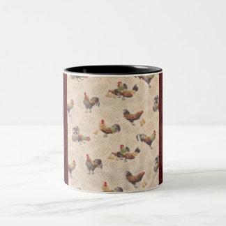 Taza de café francesa de las gallinas del país del