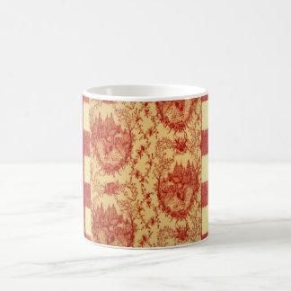 Taza de café francesa de los gallos del corral de