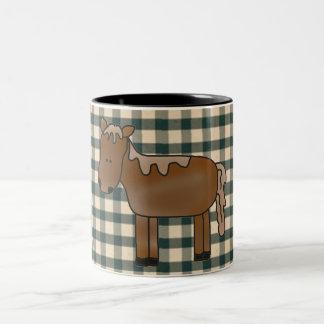 Taza de café francesa del caballo del país
