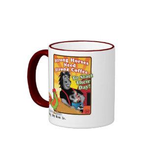 Taza de café fuerte del caballo