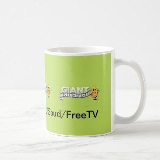 Taza de café gigante del márketing del cine