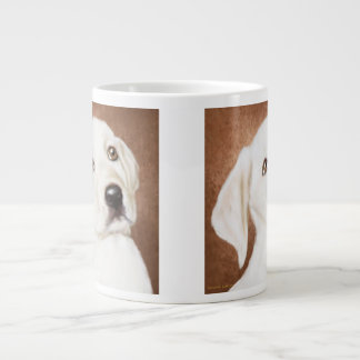 Taza de café gigante del perrito amarillo de taza grande