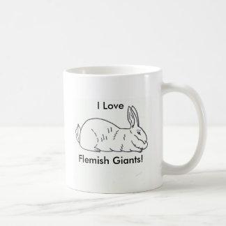 Taza de café gigante flamenca del conejo - taza