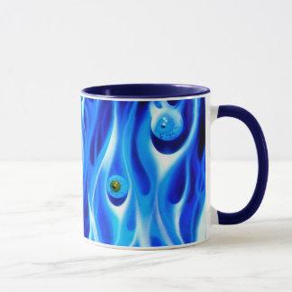 Taza de café - globos del ojo de la mañana