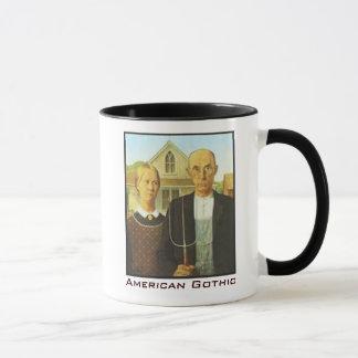 Taza de café gótica americana