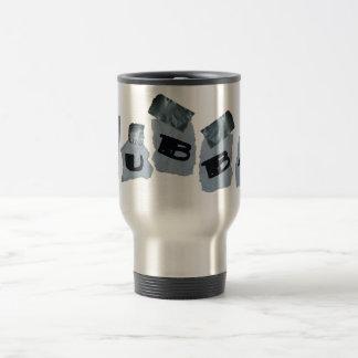 Taza de café grabada conducto del viaje de la
