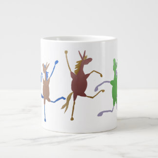 Taza de café grande de la mula alegre de Molly
