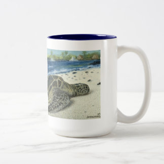 Taza de café grande de la tortuga de mar de la