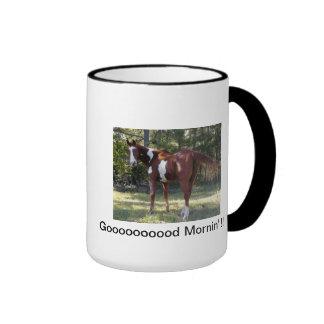Taza de café grande del caballo de la pintura