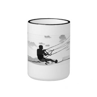 Taza de café grande - Kitesurfing