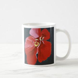 Taza de café hawaiana del hibisco