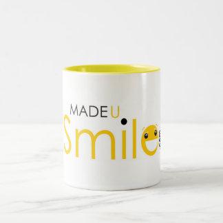 Taza de café hecha de U Smile.com