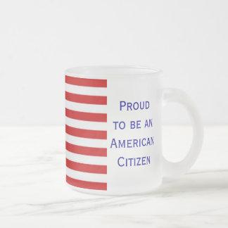 Taza de café helada bandera americana del