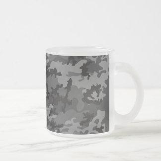 Taza de café helada Camo negra de encargo