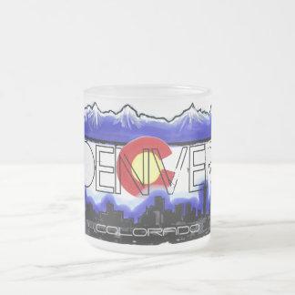 Taza de café helada horizonte de Denver Colorado