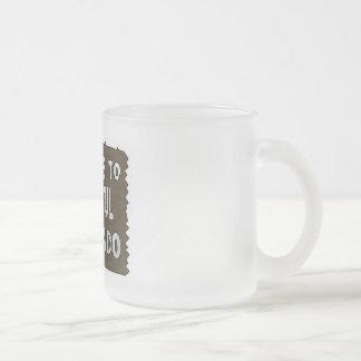 Taza de café helada signo positivo colorido de Col