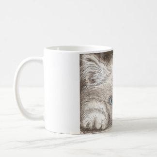 Taza de café Himalayan persa del gatito/del gato