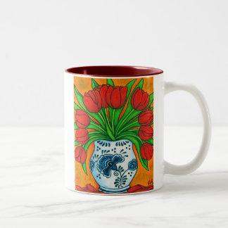 Taza de café holandesa del placer