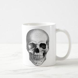 Taza de café humana del cráneo