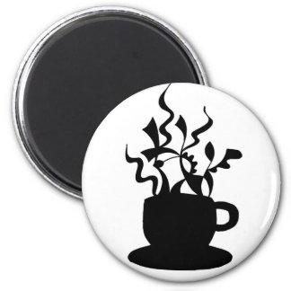 Taza de café - ilustraciones dibujadas mano imanes
