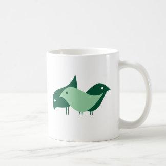 Taza de café imaginaria de tres chicas {pájaros}