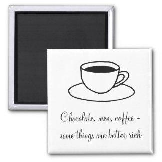 Taza de café imán cuadrado