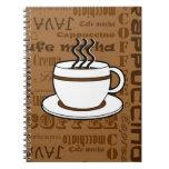 Taza de café - impresión de las palabras del café  cuaderno