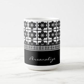 Taza de café infinita de la floración del ónix