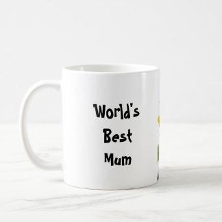 Taza de café inglesa del té del girasol…