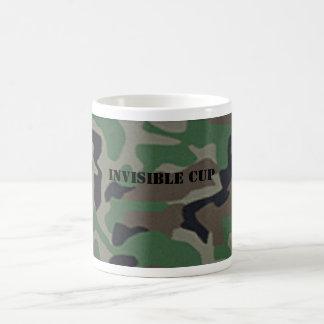 Taza de café invisible del camuflaje