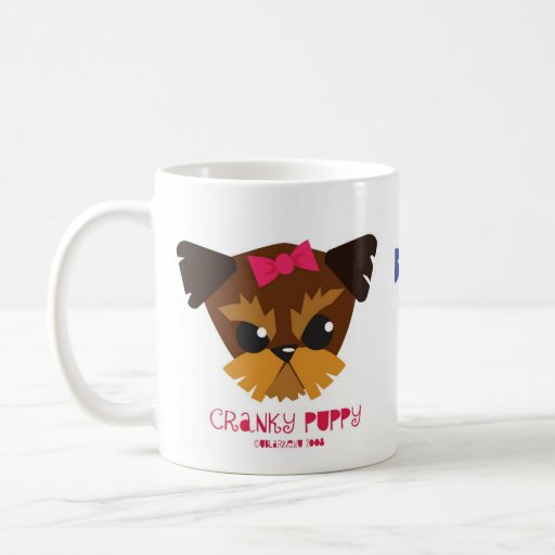 taza de café irritable del perrito