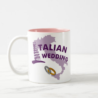 Taza de café italiana del boda