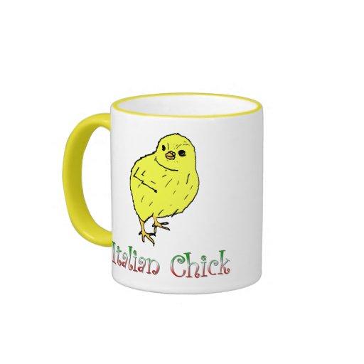 Taza de café italiana del polluelo