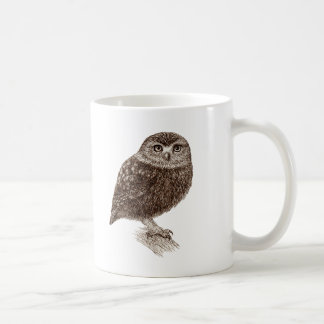 Taza de café joven del búho