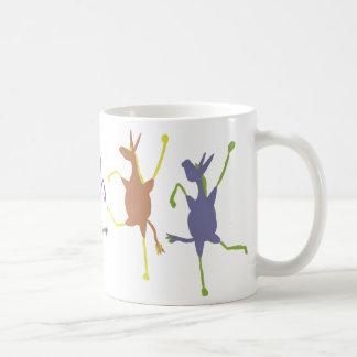 Taza de café jubilosa del burro de las jacas