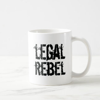 Taza de café legal de los rebeldes