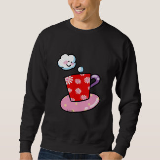 Taza de café linda con vapor sudadera