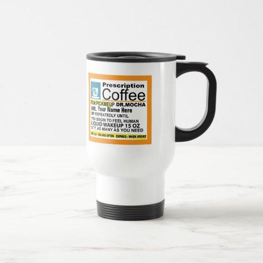 Taza de café linda de la prescripción