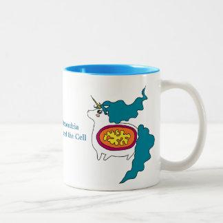 Taza de café linda de las mitocondrias del