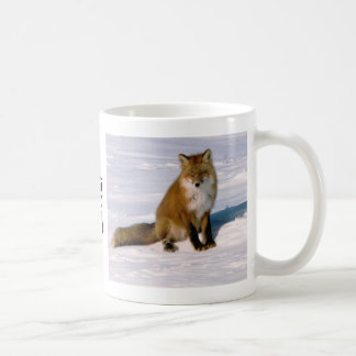 Taza de café linda de Latte de la mañana del Fox